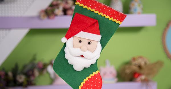 Como Fazer Bota de Natal em Feltro – Passo a Passo