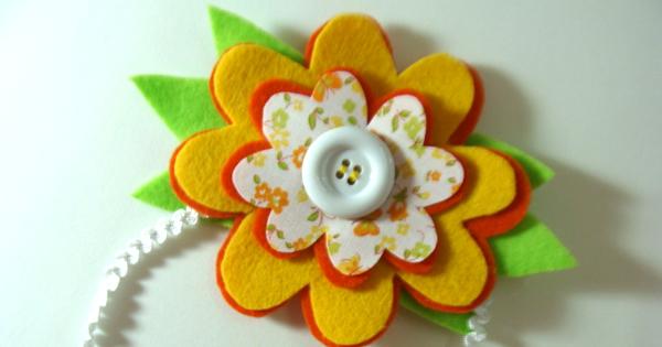 Como Fazer Tiara Infantil com Flor de Feltro - Passo a Passo 649eb679ce0