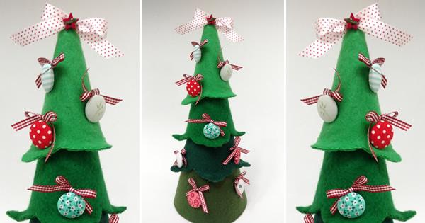 Como Fazer uma Árvore de Natal de Feltro Super Charmosa