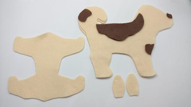 cachorro de feltro - recortes