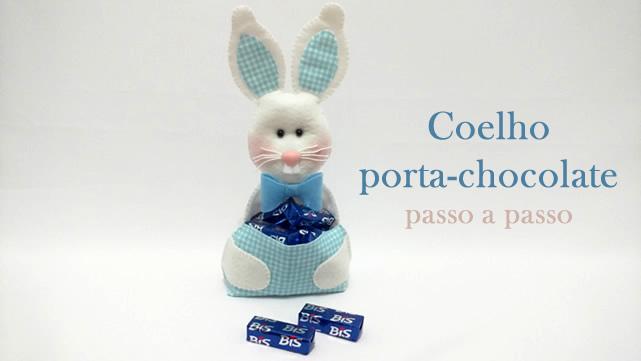 Coelho em Feltro Porta-bombons – Passo a Passo + Molde