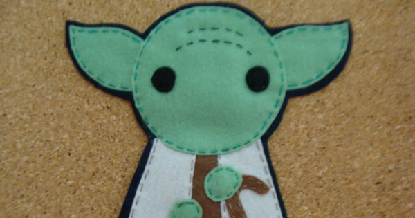 Como Fazer Aplique do Mestre Yoda em Feltro – Passo a Passo com Molde