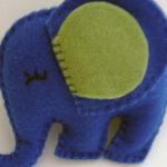 elefante de feltro como fazer