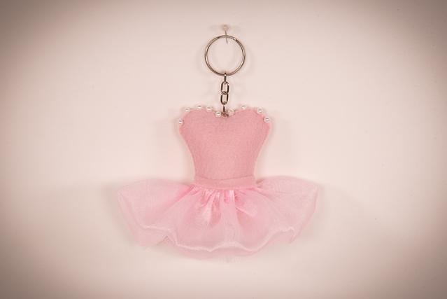 Chaveiro de corpete de bailarina