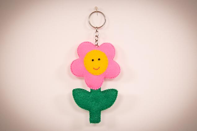 Chaveiro de feltro - flor