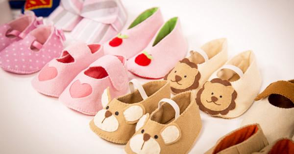 10 Modelos de Sapatinhos de Bebê em Feltro Para Fazer em Casa