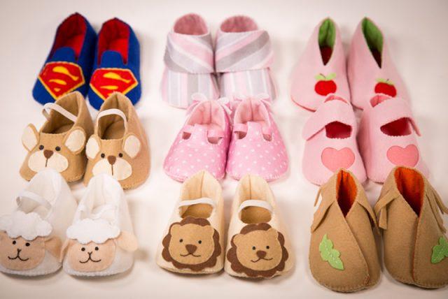 sapatinhos de bebê feltro