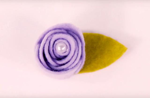 flores de feltro molde