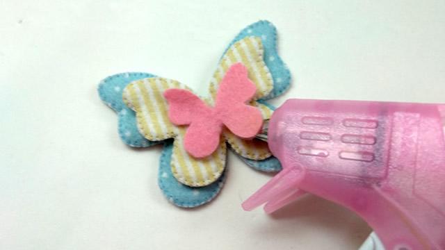 borboletas de feltro