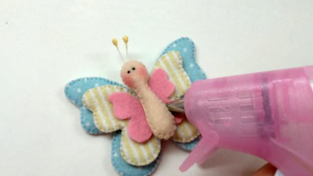 borboletas em feltro
