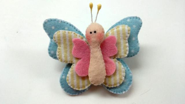 molde de borboletas em feltro