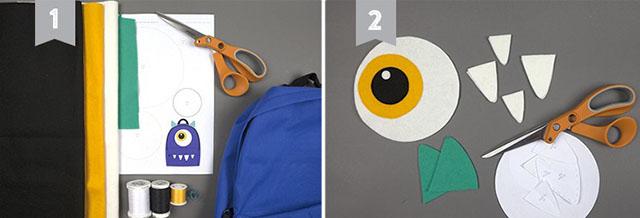 como personalizar mochila com feltro
