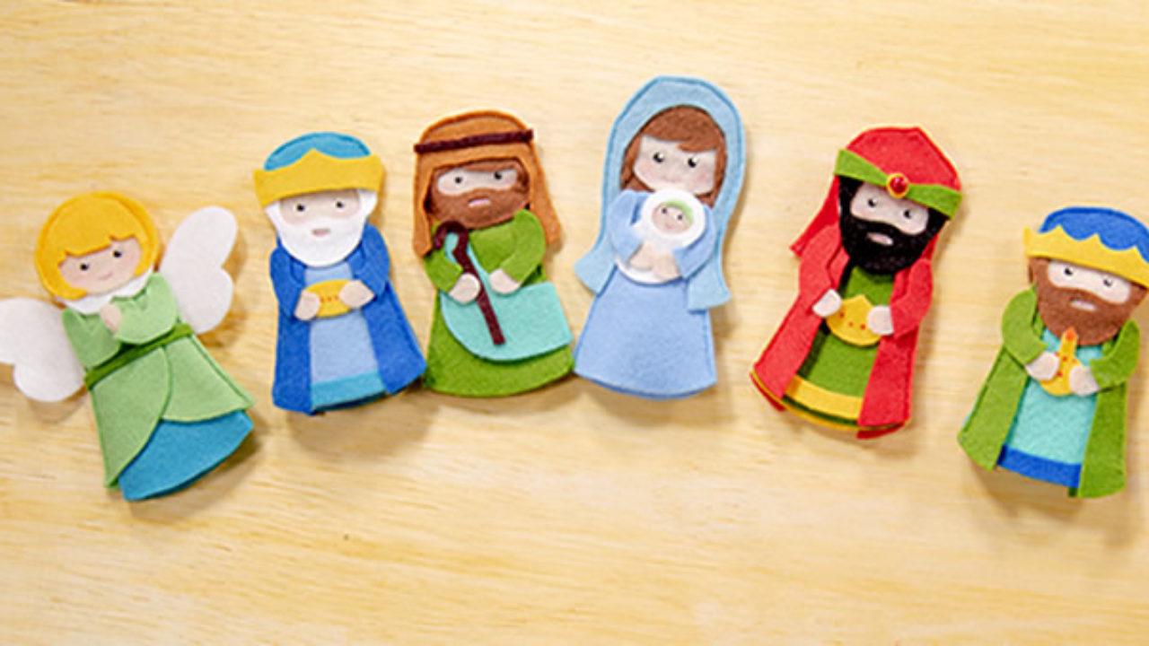 Dedoches De Feltro Para O Natal Passo A Passo Com Molde Escola