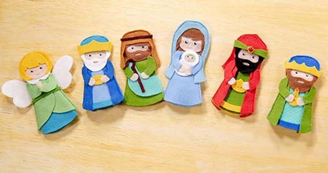 Dedoches de Feltro para o Natal – Passo a Passo com Molde