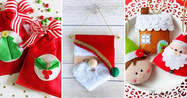 20 Enfeites de Natal em Feltro para Fazer em Casa