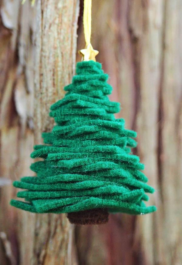 árvore de natal de feltro
