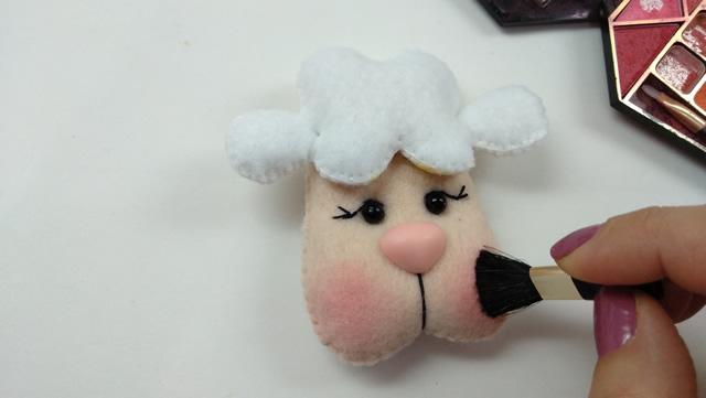 ovelha de feltro molde