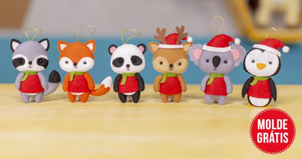 Pingentes de Natal em Feltro – Passo a Passo com Moldes