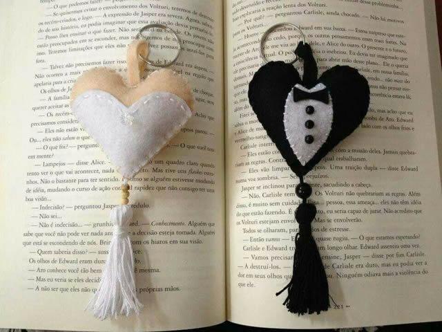 lembrancinhas de casamento em feltro