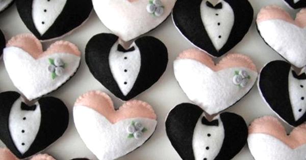19 Lembrancinhas de Casamento para Fazer com Feltro