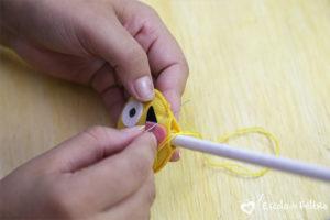 ponteira de lápis em feltro