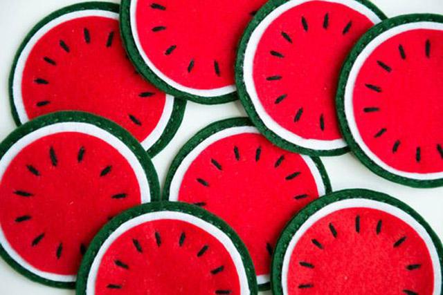 frutas de feltro
