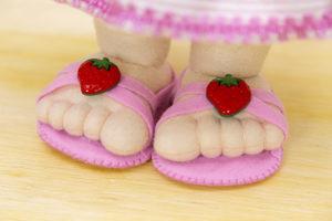 boneca de feltro frutas