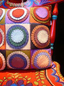 almofadas de feltro
