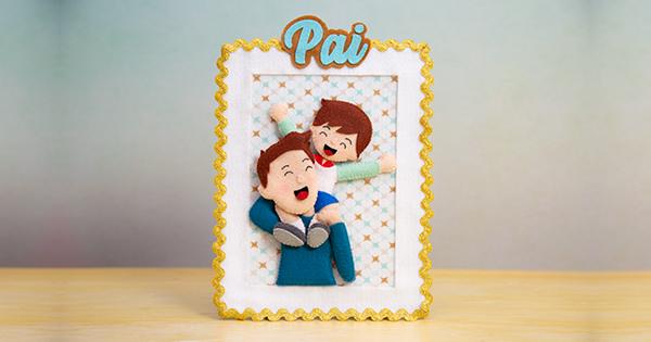 porta retrato dia dos pais