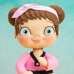 bonecas de feltro olhos