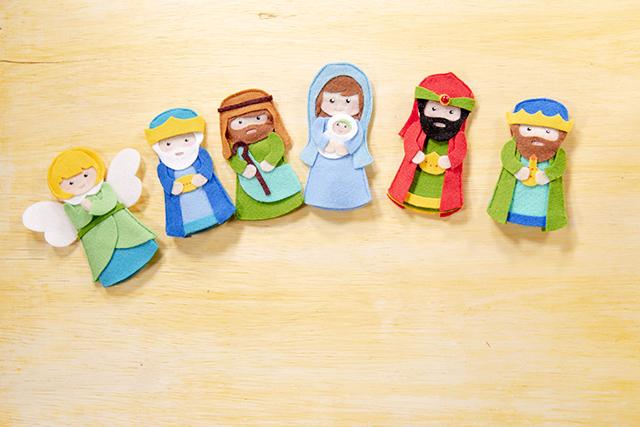 dedoches de Natal em feltro