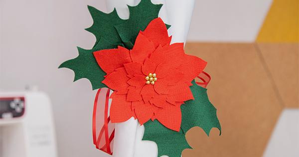 Aprenda Como Fazer um Prendedor de Cortina em Feltro para o Natal