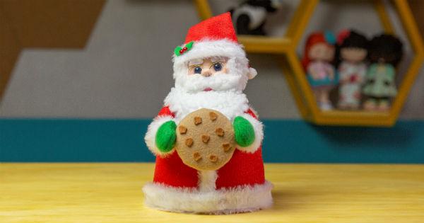 Aprenda Como Fazer um Peso de Porta de Feltro para o Natal