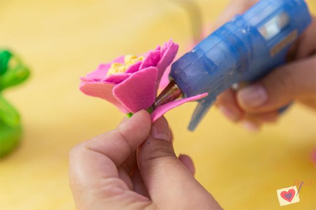 flor de feltro molde