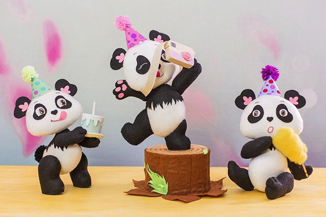 artesanato em feltro festa panda
