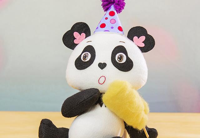 panda de feltro