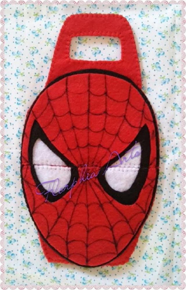 Porta carregador de celular do Homem-Aranha