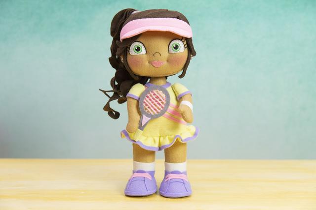 Boneca de feltro tenista