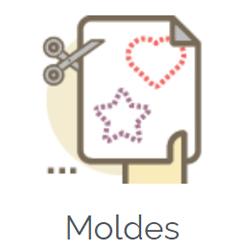 escola de feltro molde grátis