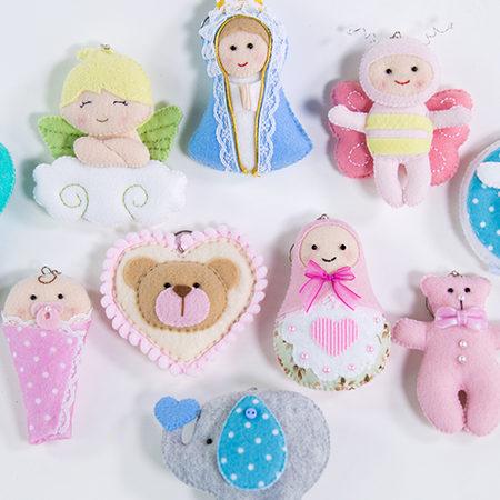 30 Modelos de Lembrancinha de Maternidade em Feltro para se Inspirar