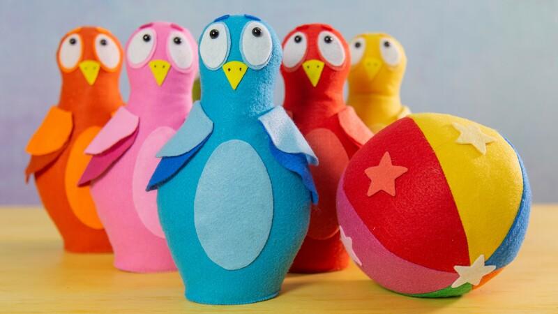 Boliche de Feltro para o Dia das Crianças: Molde e Passo a Passo