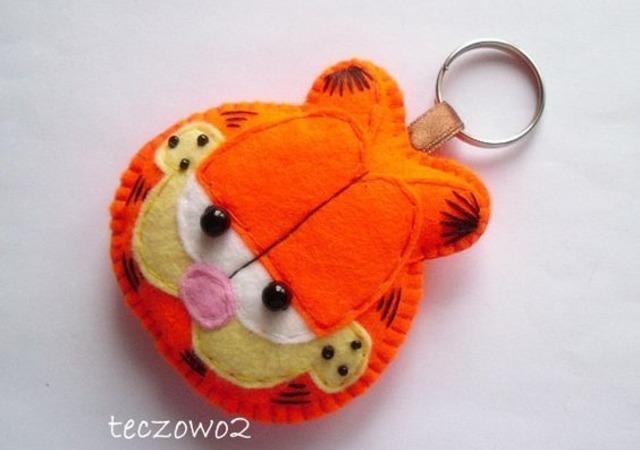 Chaveiro do Garfield de feltro