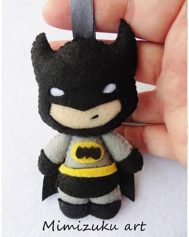 Chaveiro do Batman de feltro