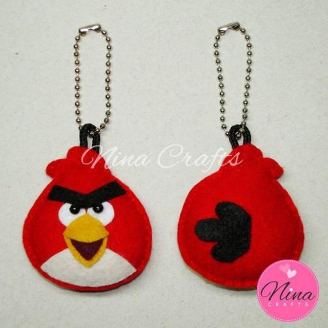 Chaveiro Angry Birds de feltro