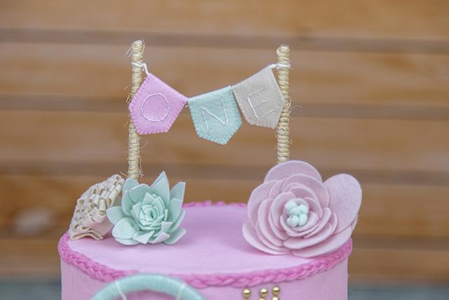 Topo de bolo em feltro