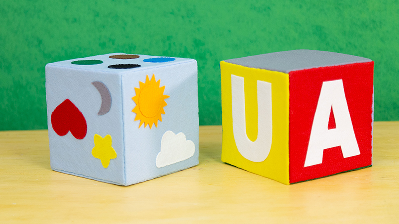 Cubo Pedagógico em Feltro para Crianças: Passo a Passo e Molde Gratuito